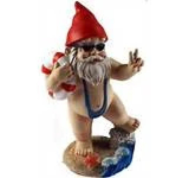 15cm Funny Gnome Garden Ornament - Mankini / Life Ring Design Free Postage