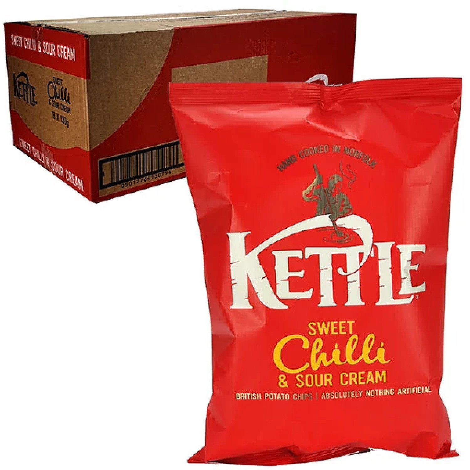 16 X KETTLE CHIPS SWEET CHILLI & SOUR CREAM 130G PACKS Free Postage