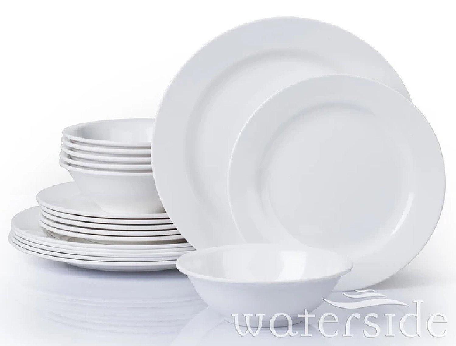 18PC ROUND MELAMINE DINNER SET Free Postage