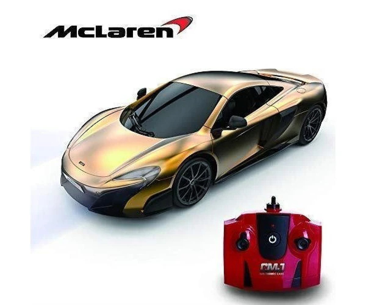 1:24 Scale RC Gold Mclaren Free Postage