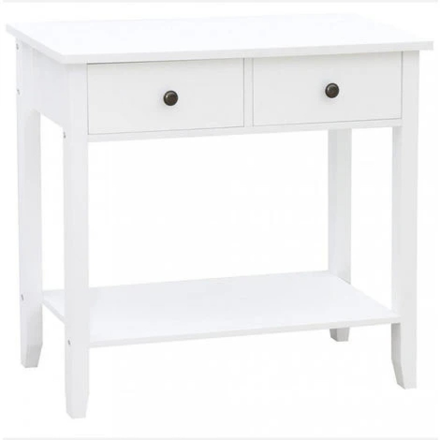 2 Drawer Console Table, White Free Postage