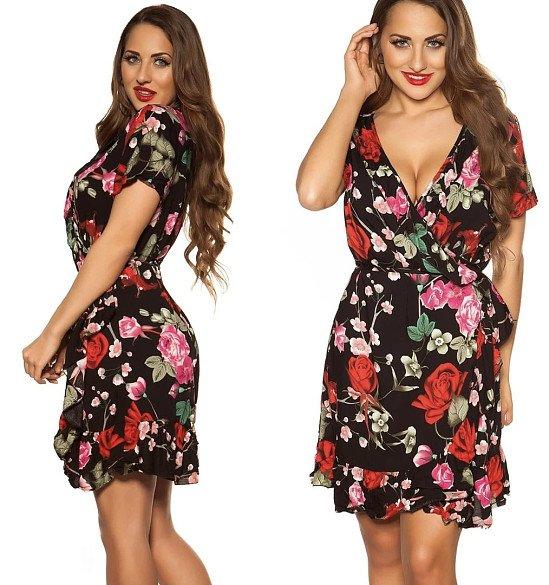 Misty Floral Dress - Black £10