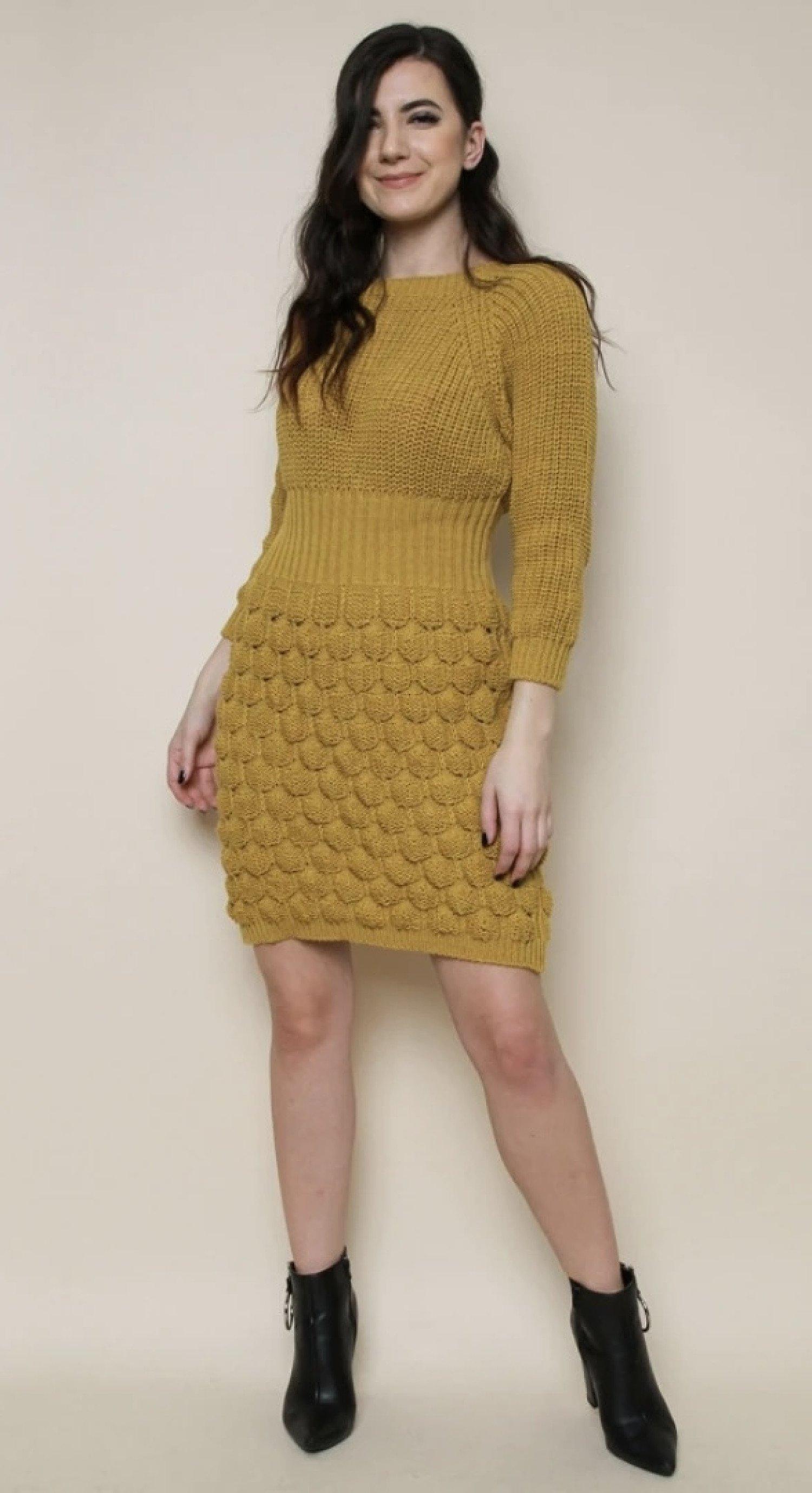 Cianna Bubble Dress - Mustard £15