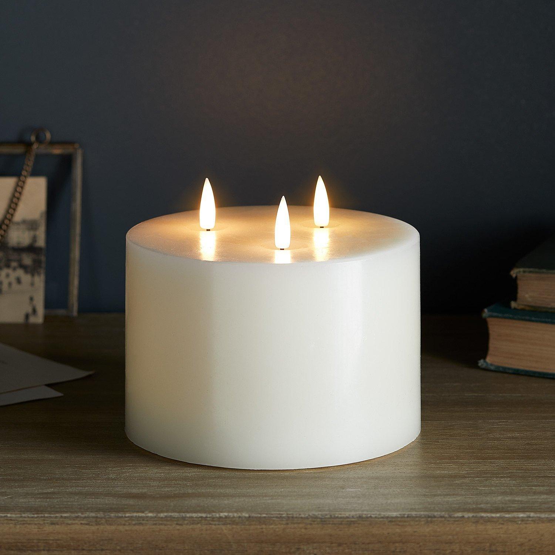 TruGlow Range - TruGlow® Ivory LED 3 Wick Candle: £29.99!