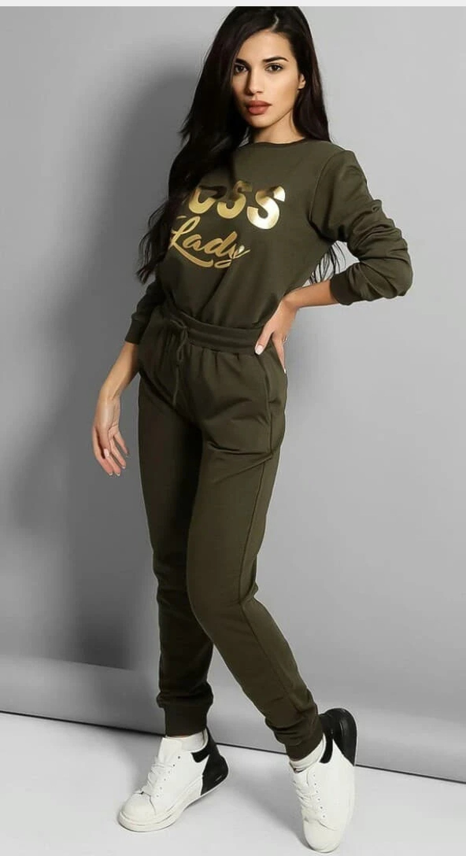 2 Piece Boss Lady Cotton Tracksuit Plus Sizes Free Postage