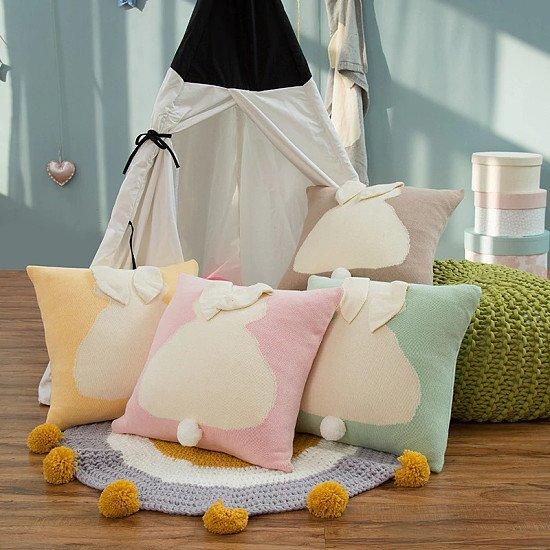 Cute Rabbit Knitted Cushion Cover 45 x 45 cm - 30% off