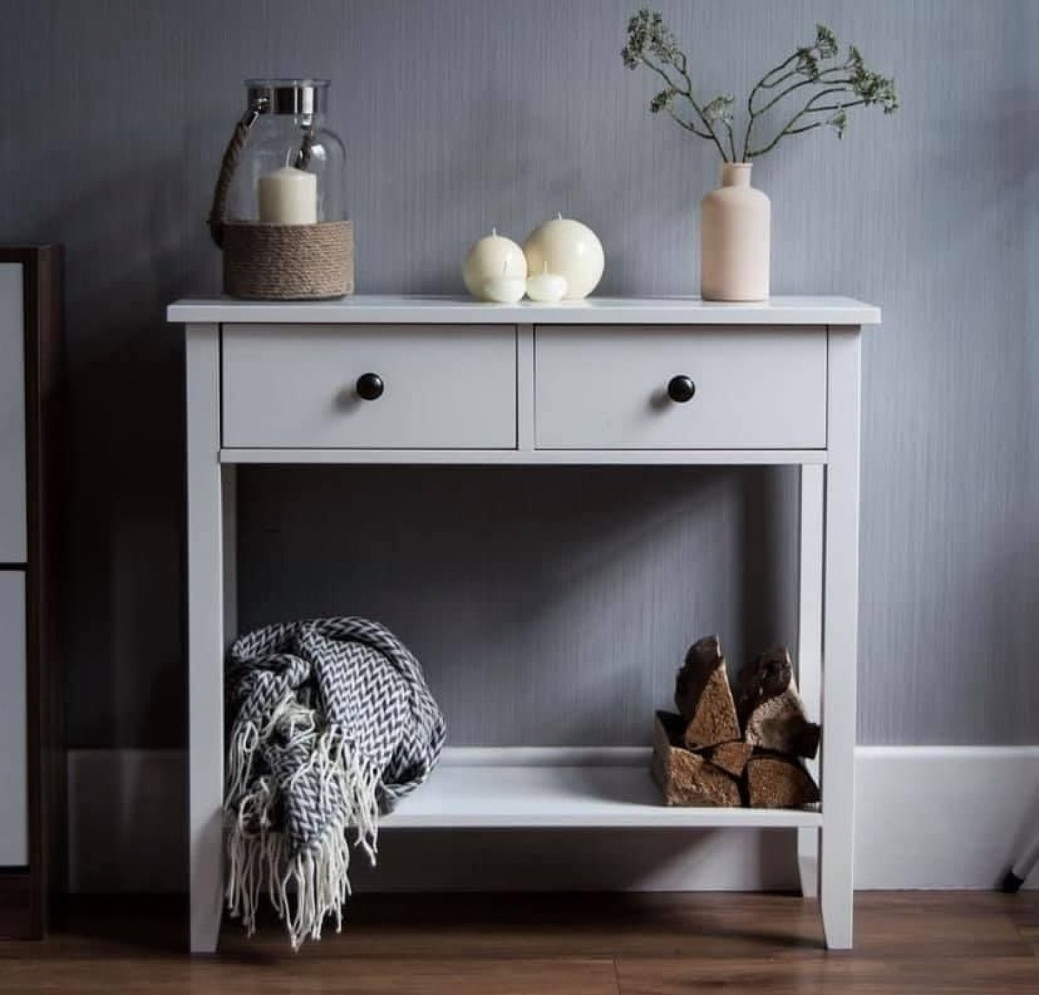 2 draw console table