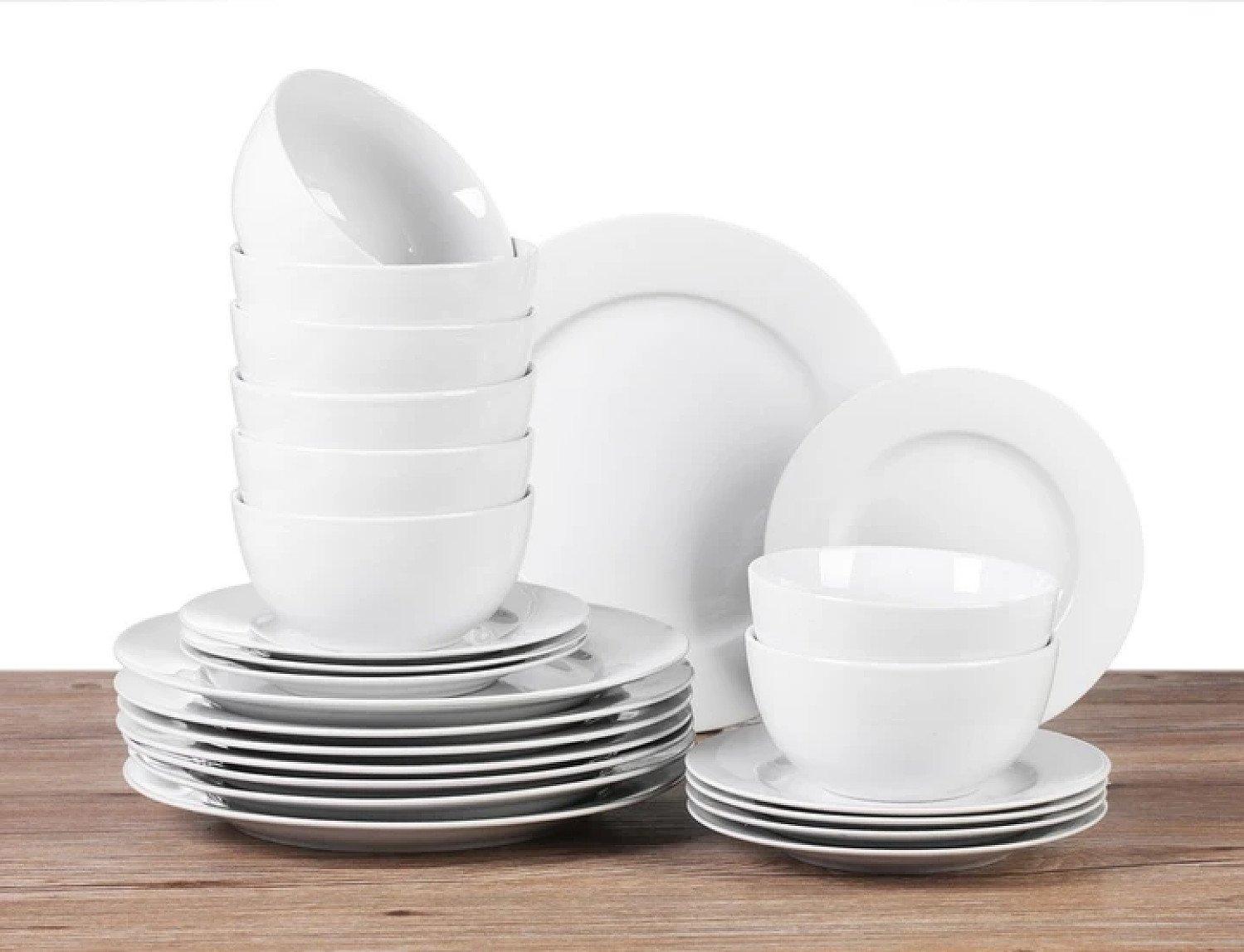 24 PIECE WHITE PURE DINNER SET Free Postage