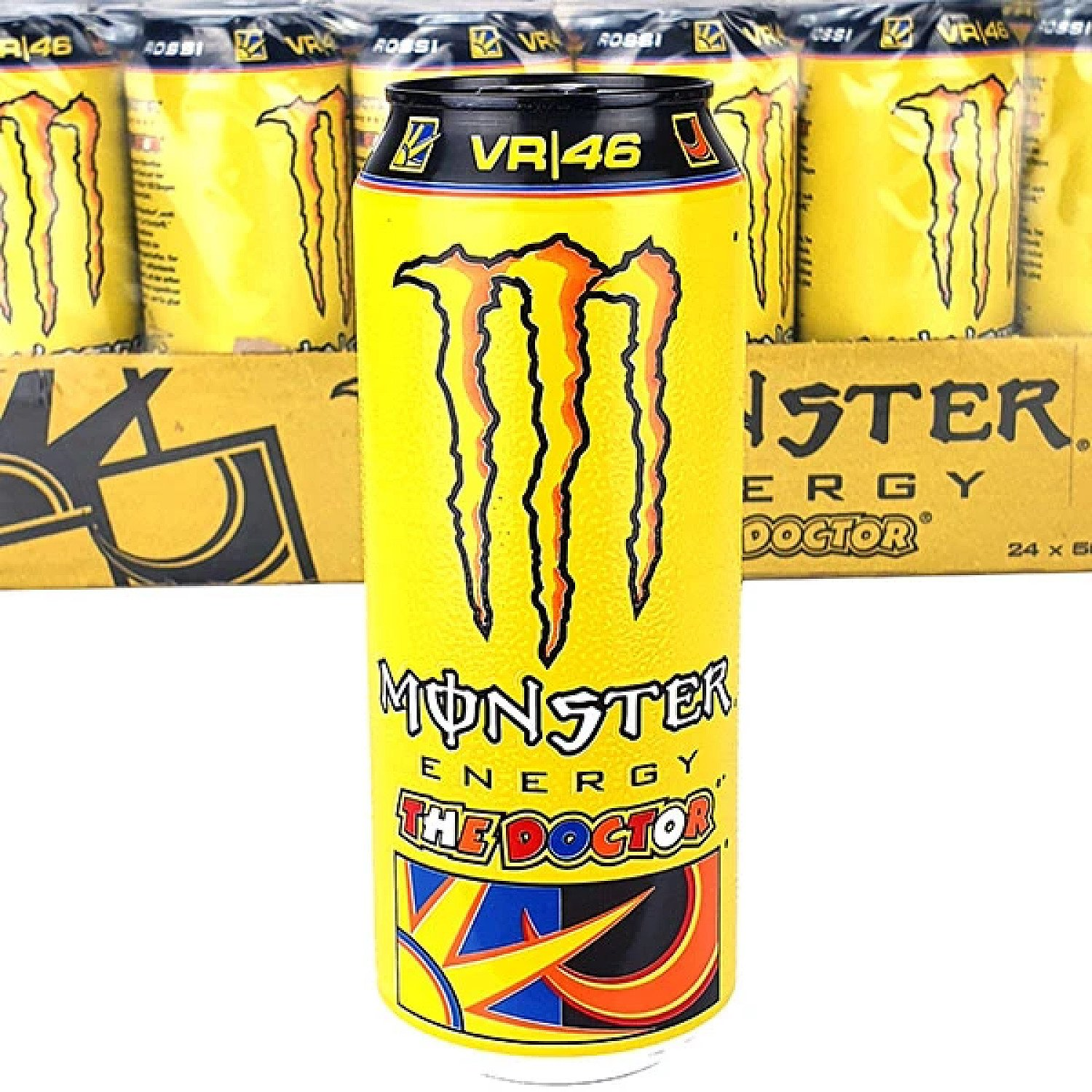 24 X MONSTER ENERGY THE DOCTOR ROSSI FLAVOUR 500ML CANS Free Postage