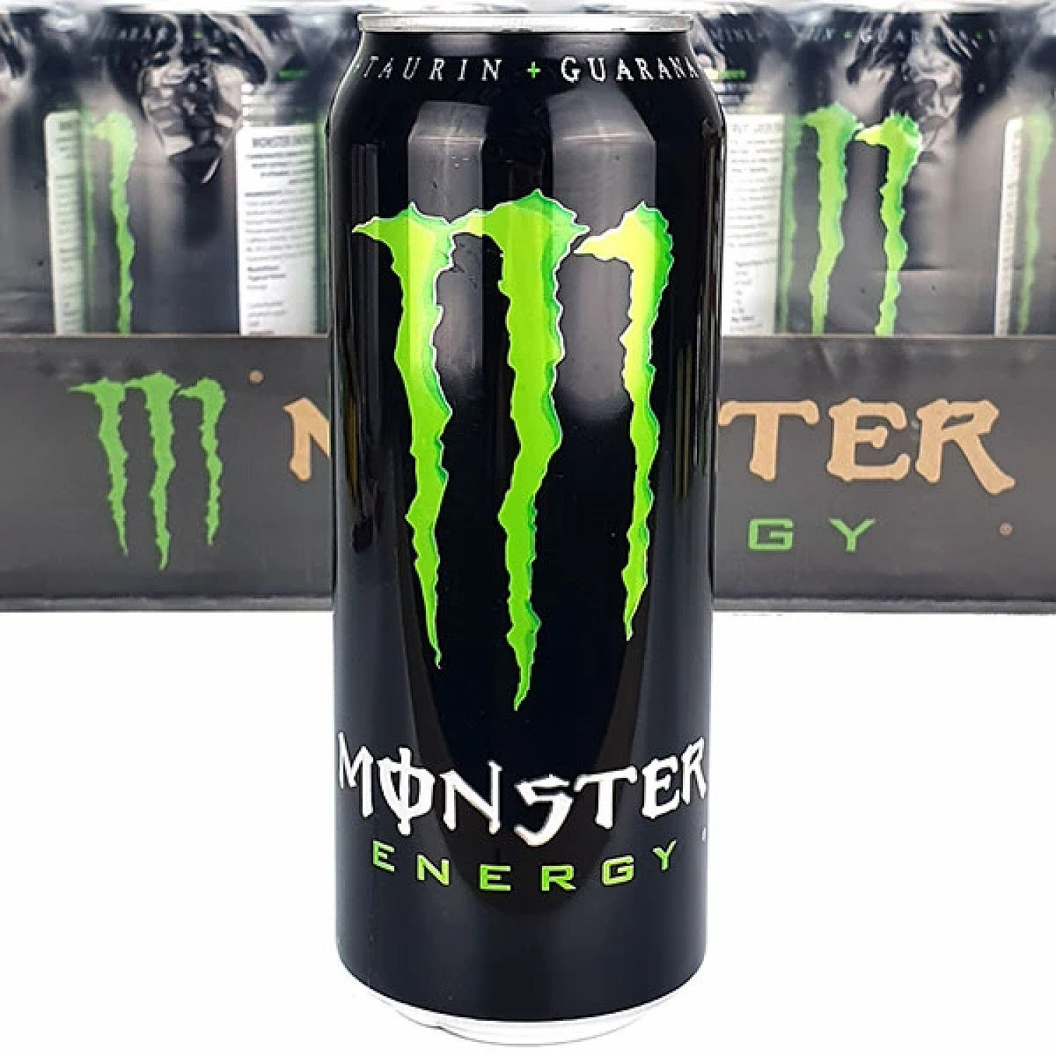24 X MONSTER GREEN ORIGINAL TRADITIONAL ENERGY FLAVOUR 500ML CANS Free Postage