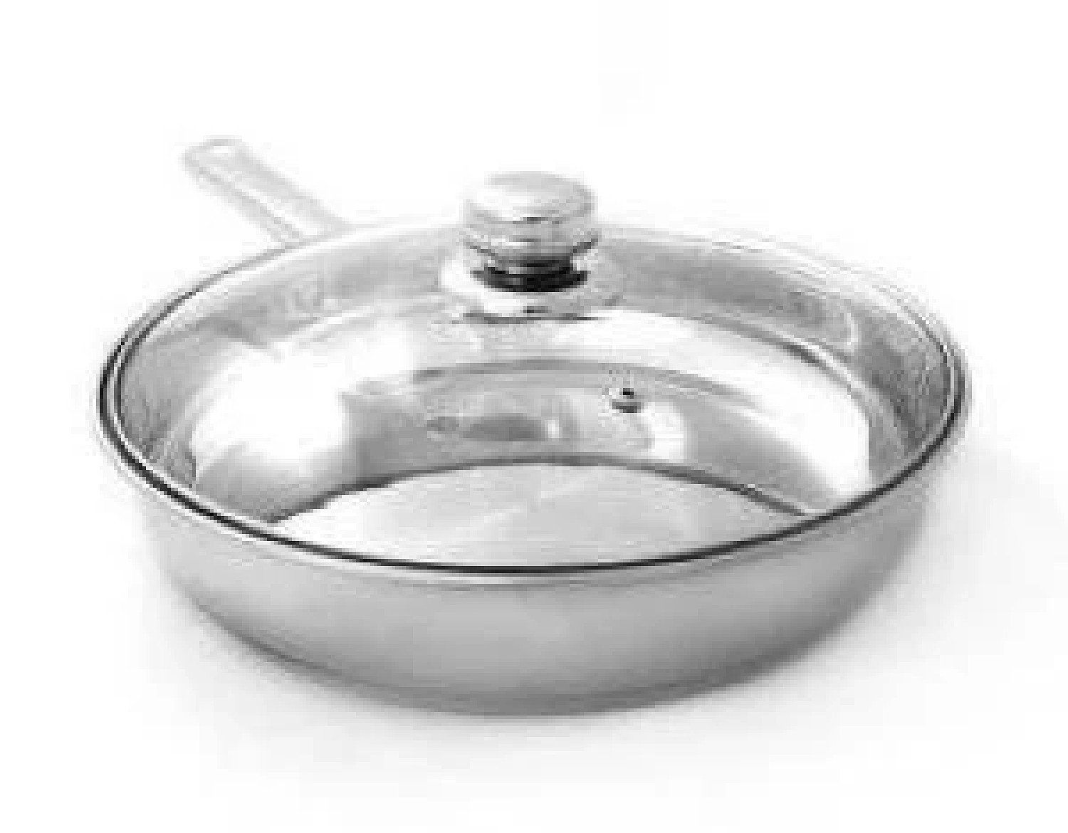 24cm Frying Pan with Glass Lid Free Postage