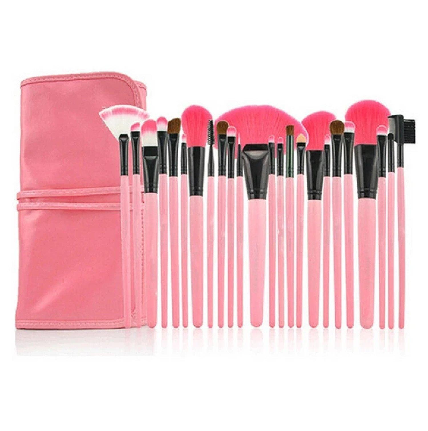 24pcs Pink Makeup Brush Set Free Postage