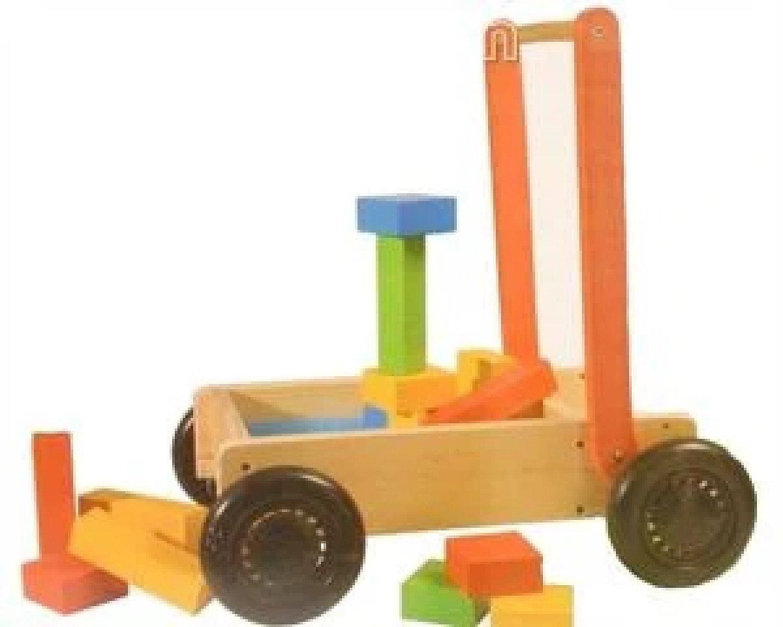 27Pcs Wooden Push Cart Toy Free Postage