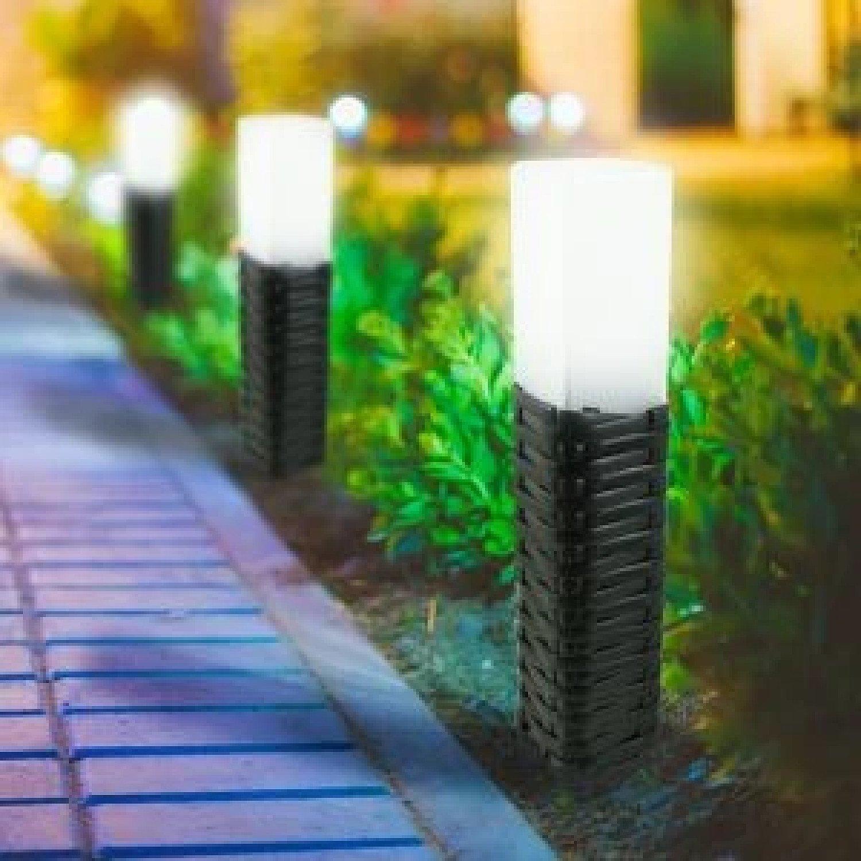 2PK Solar Power Rattan Light Garden Free Postage