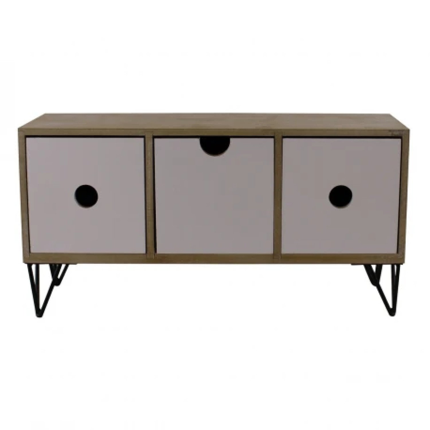 3 Drawer Trinket Unit with Wire Legs, Horizontal Style Free Postage
