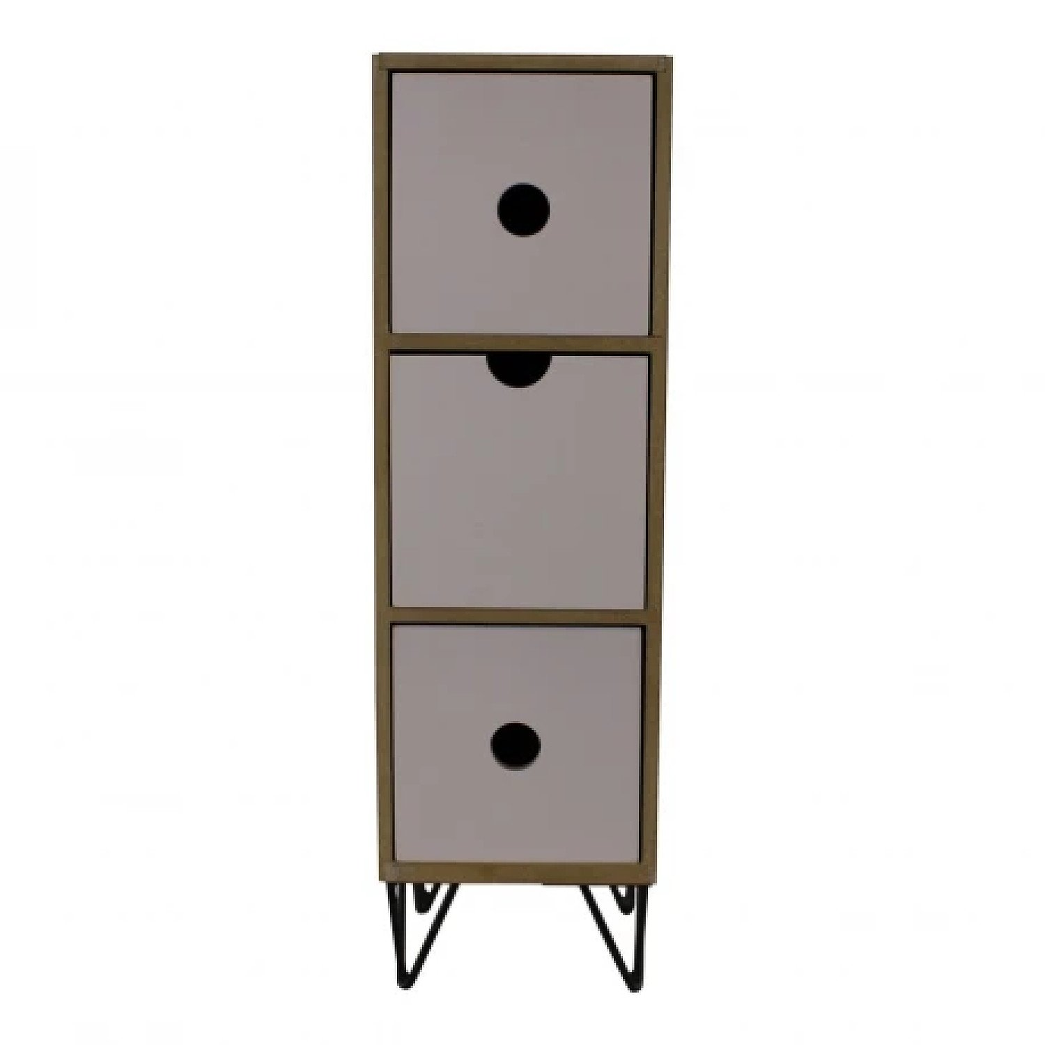3 Drawer Trinket Unit with Wire Legs, Vertical Style Free Postage