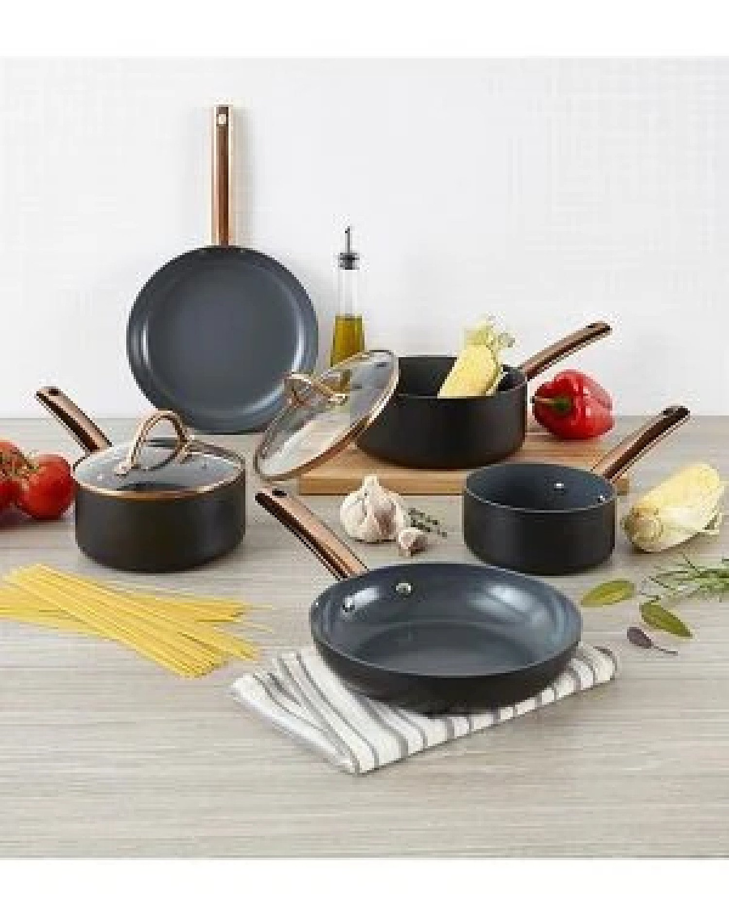 5pc Non-Stick Cookware Set Stainless Steel Healthy Cooking Copper Free Postage
