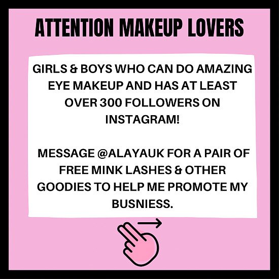 FREE PAIR OF MINK LASHES