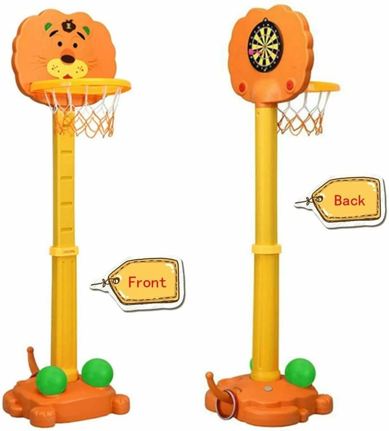 3 in 1 Kids Basketball, Hoops and Darts Stand Free Postage