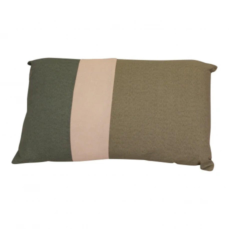 3 Panel Green Rectangular Scatter Cushion, Eucalyptus Range Free Postage