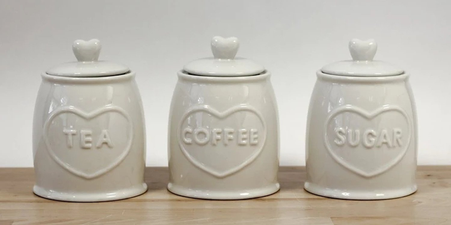 3 PIECE COUNTRY HEART CANISTERS Free Postage