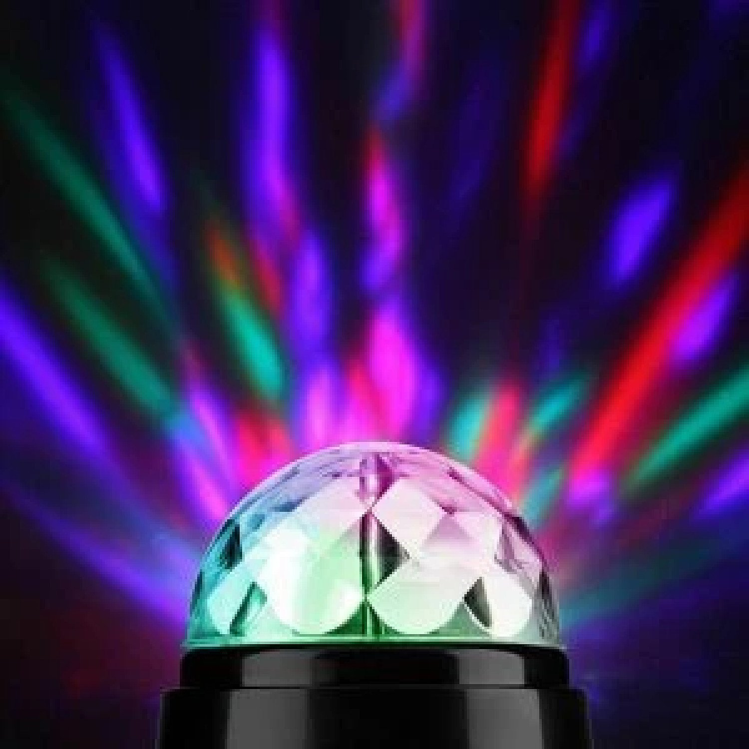 360° ROTATING DISCO LIGHT DJ Party Crystal Ball Effect Xmas Birthday New Year Free Postage