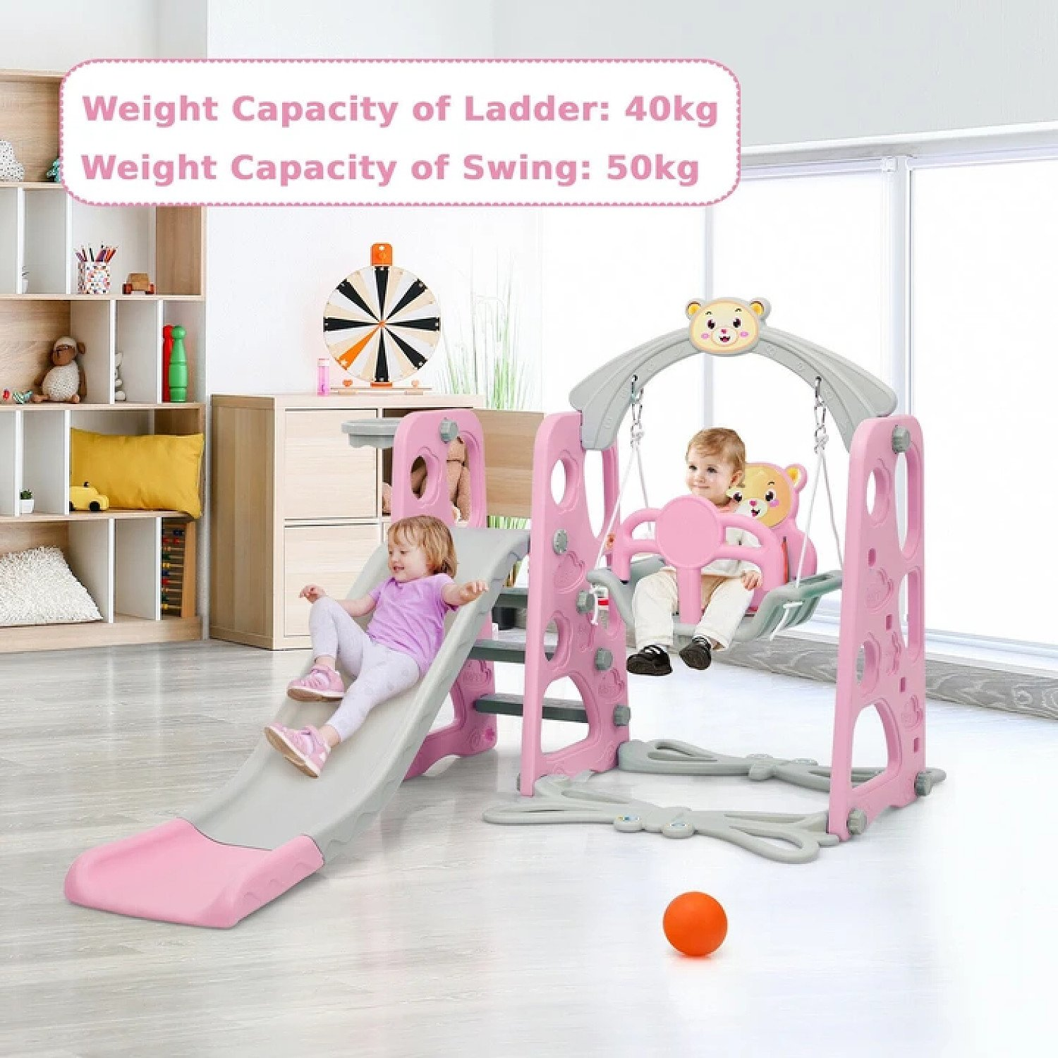 4 in 1 Kid's Swing and Slide Set Playground Free Postage