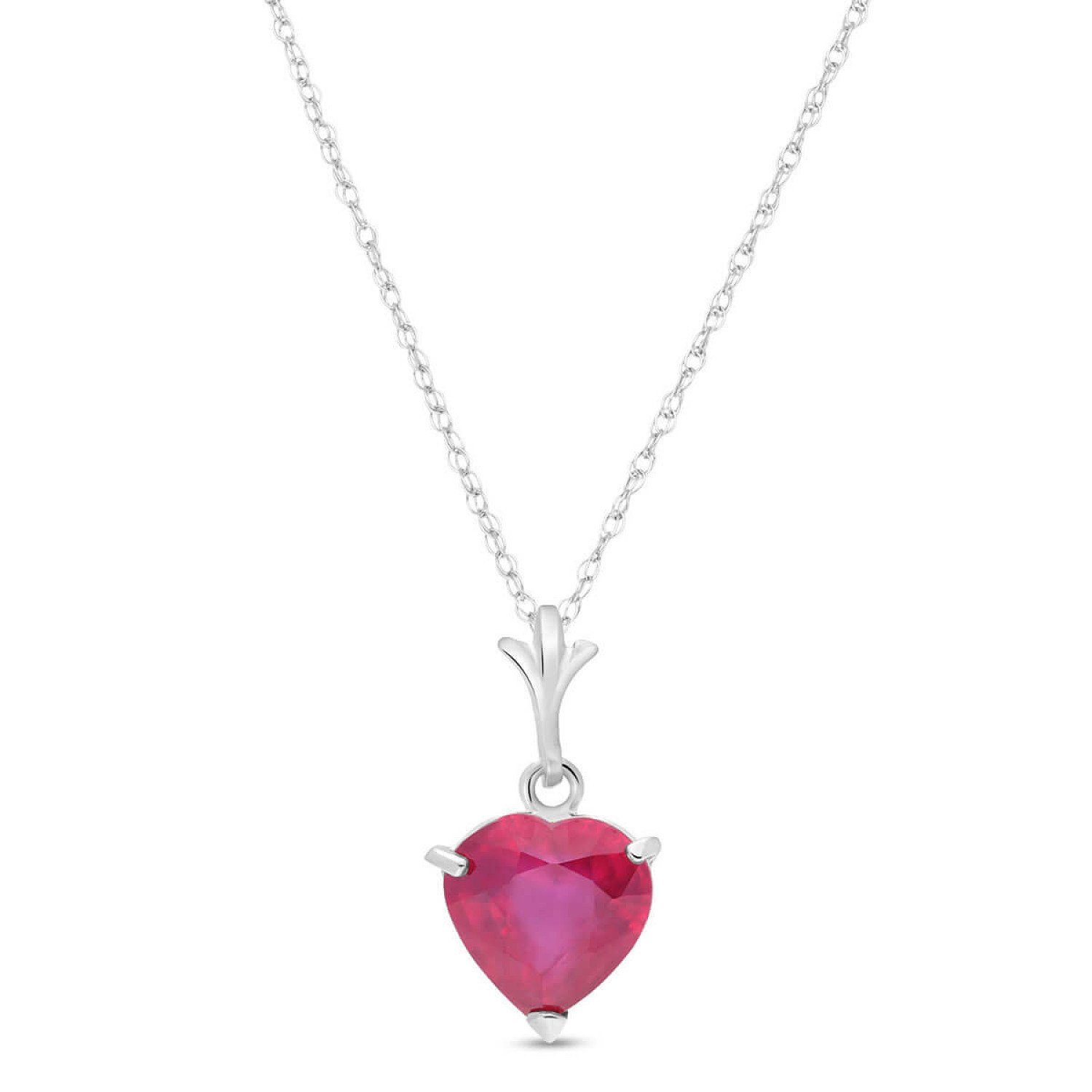 Best-Selling Ruby Heart Pendant Necklace!