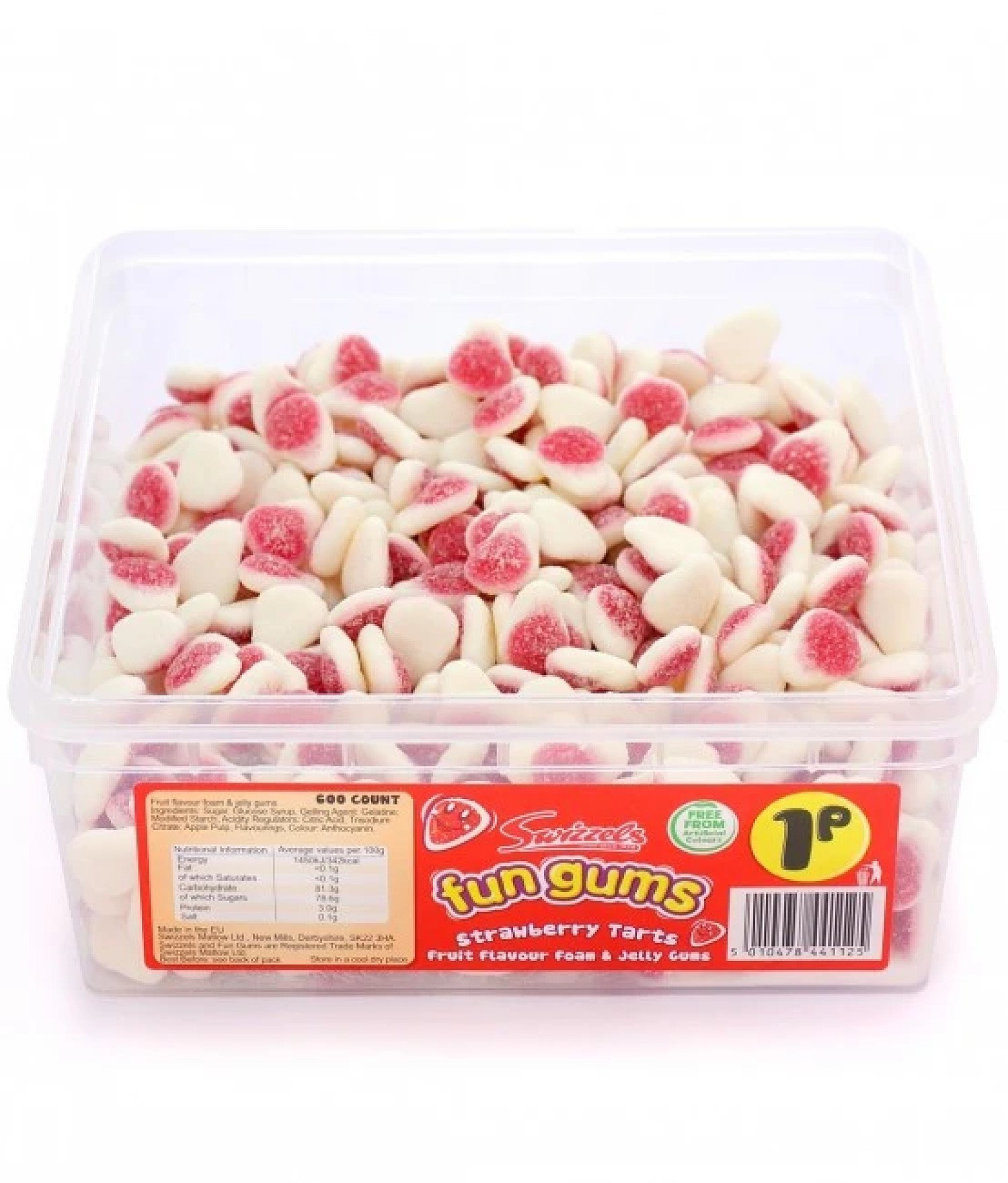 STRAWBERRY TARTS FUN GUMS (SWIZZELS MATLOW) 600 COUNT Free Postage