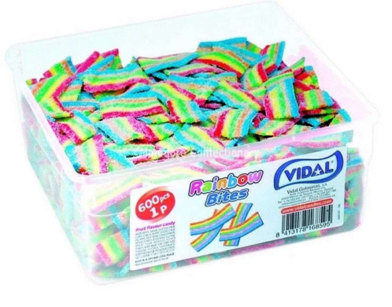 FIZZY RAINBOW BITES (VIDAL) 600 UNITS Free Postage