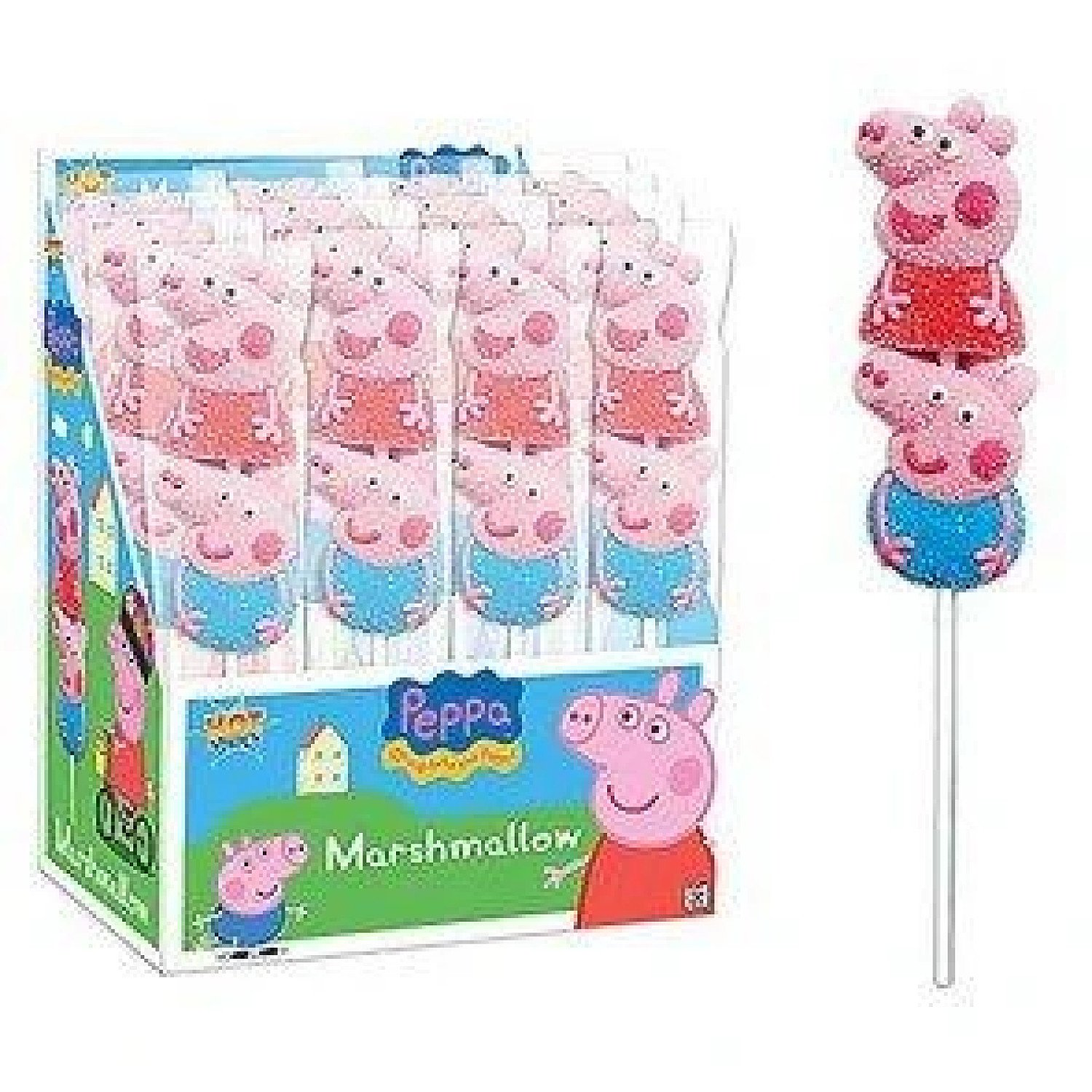 PEPPA PIG MARSHMALLOW POPS (BAZOOKA) 16 COUNT Free Postage