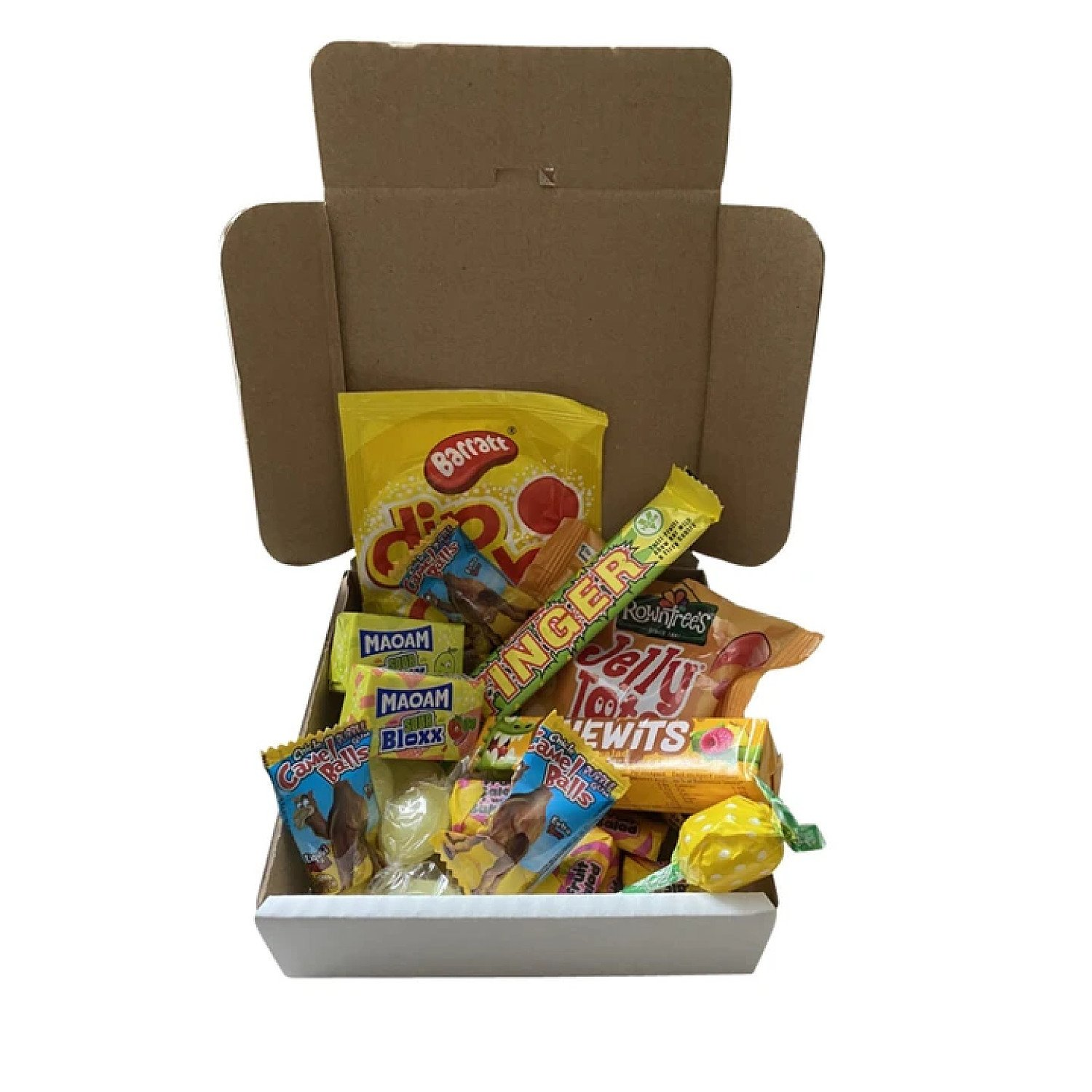 Shades of Yellow 5 inch Pizza Box Sweets Selection Free Postage