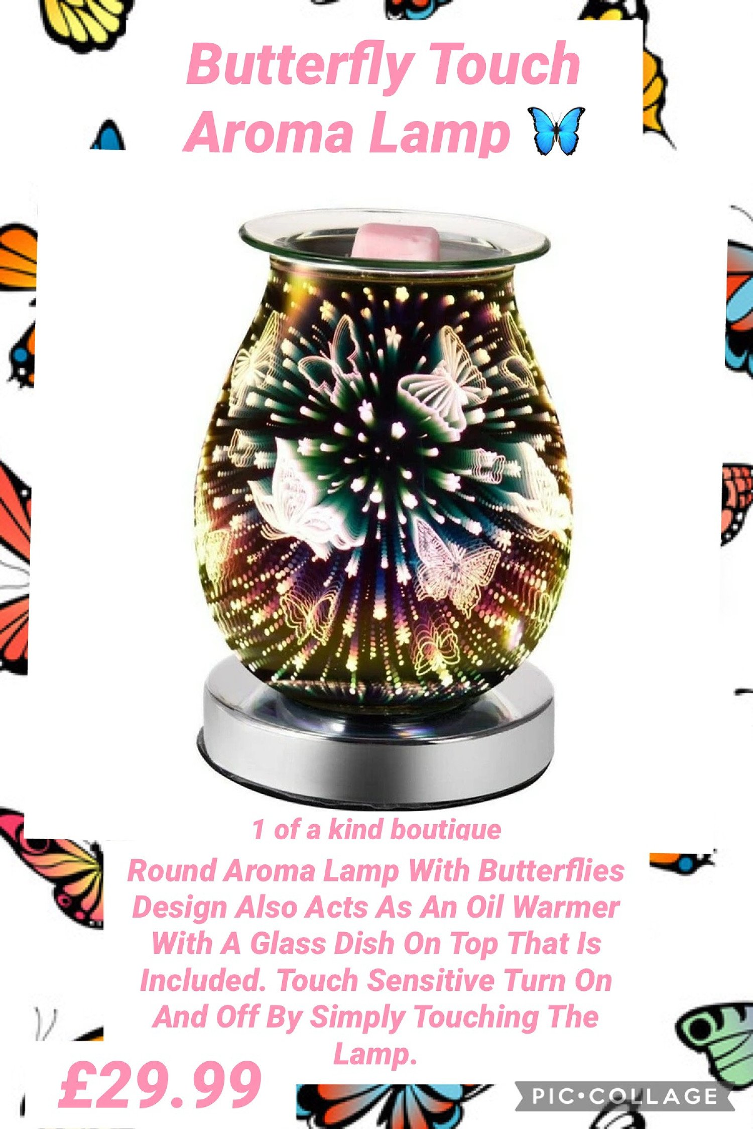 Butterfly Touch Aroma Lamp Free Postage
