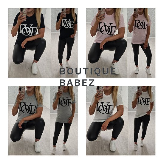 Love Tops - 4 Colours £14.99