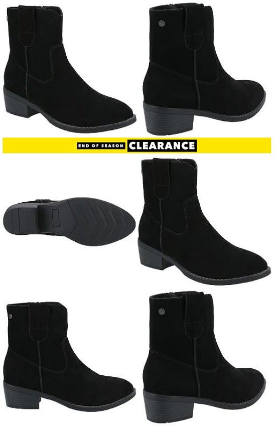 Hush Puppies Womens Iva Ankle Boots in Black - SAVE 13%!
