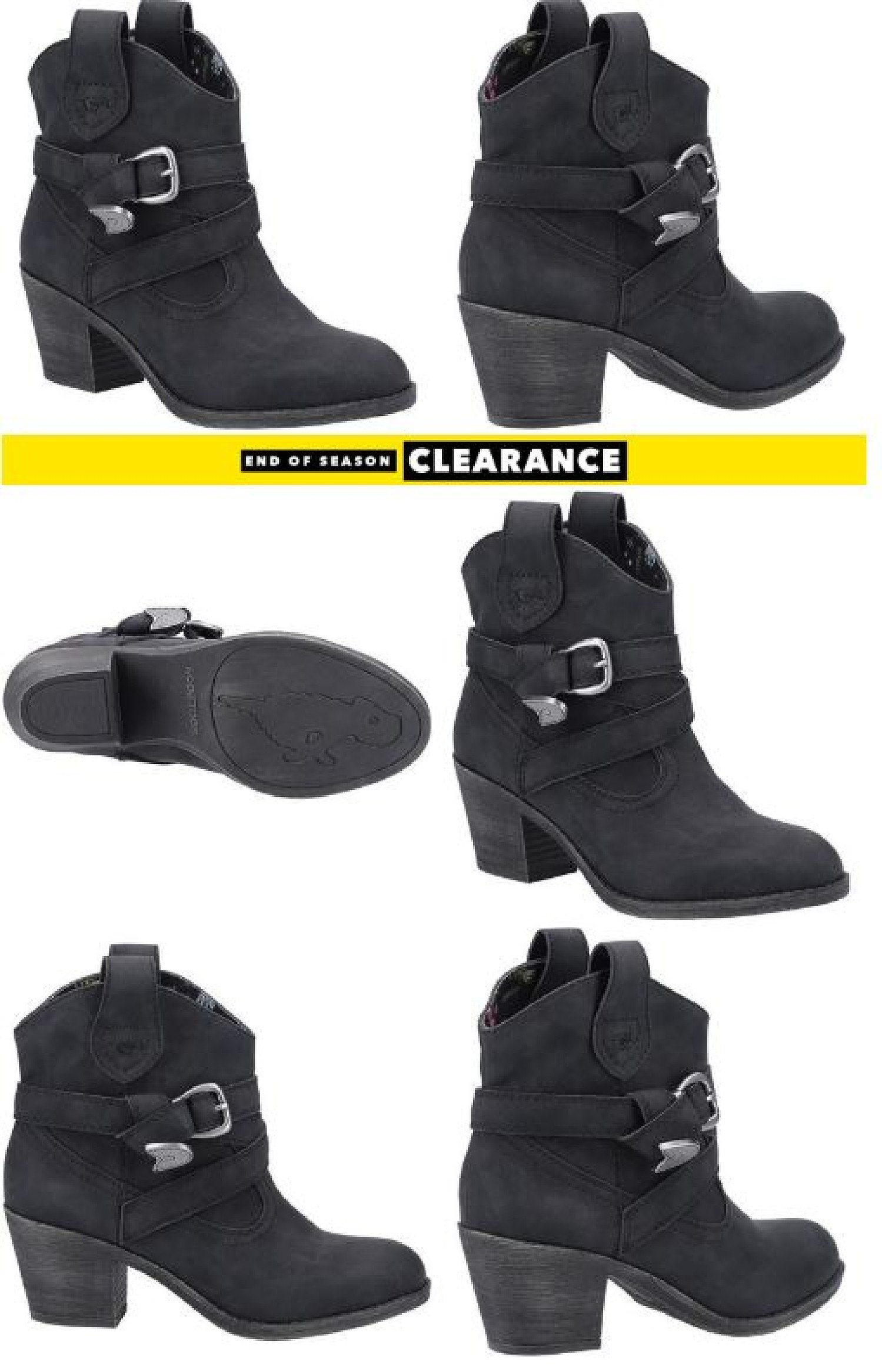 SAVE £35.00 - Rocket Dog Womens Satire Ankle Boot in Black!