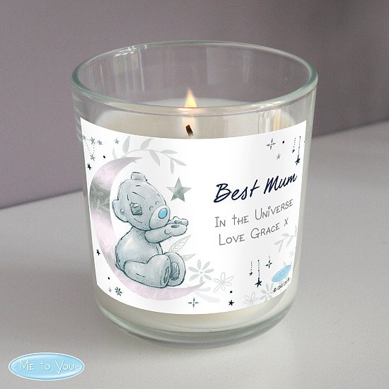 Personalised Moon & Stars Me To You Scented Jar Candle