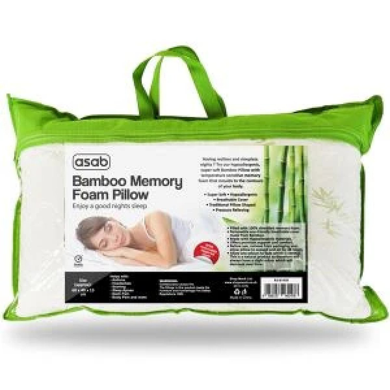 Bamboo Memory Foam Pillow Free Postage