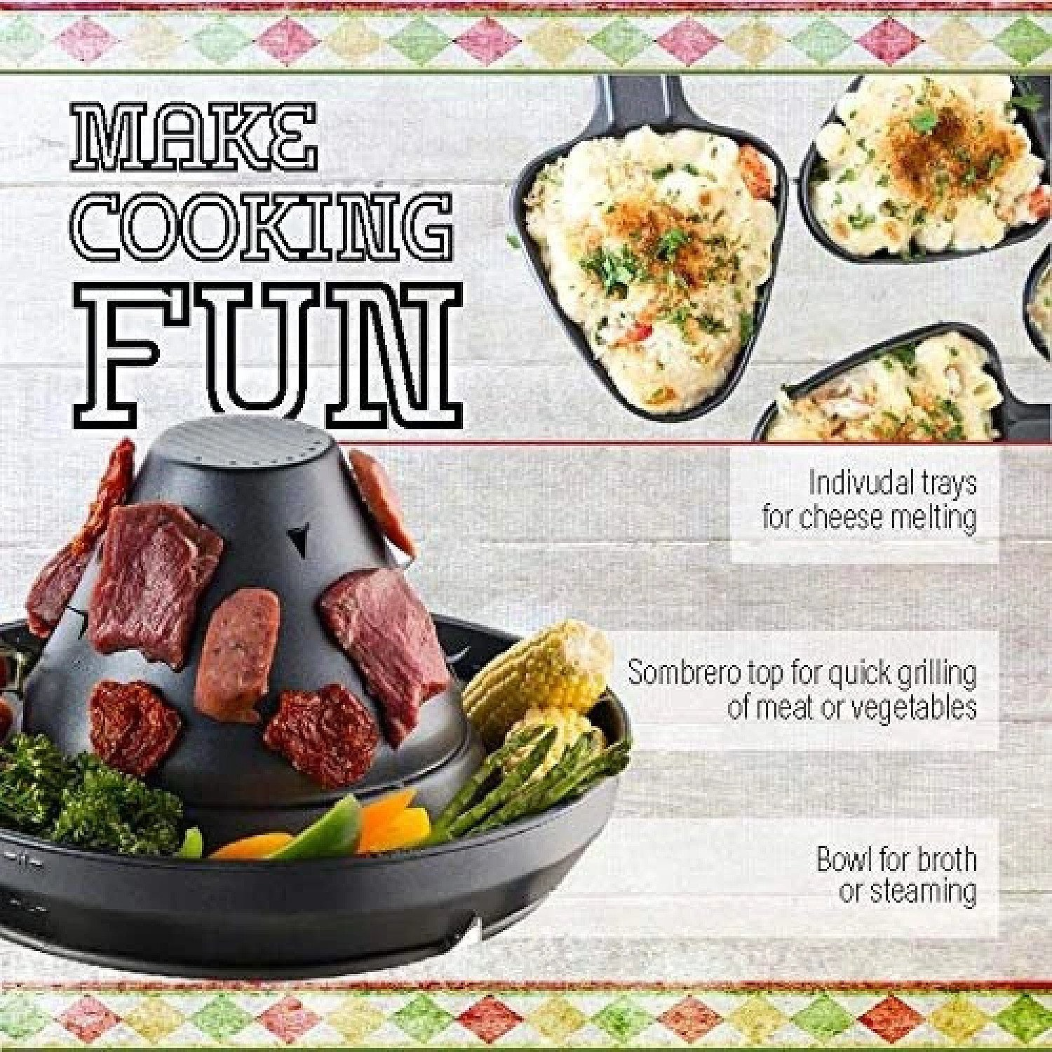Gourmia GEG1400UK Electric Raclette - Table-Top Party Grill Free Postage
