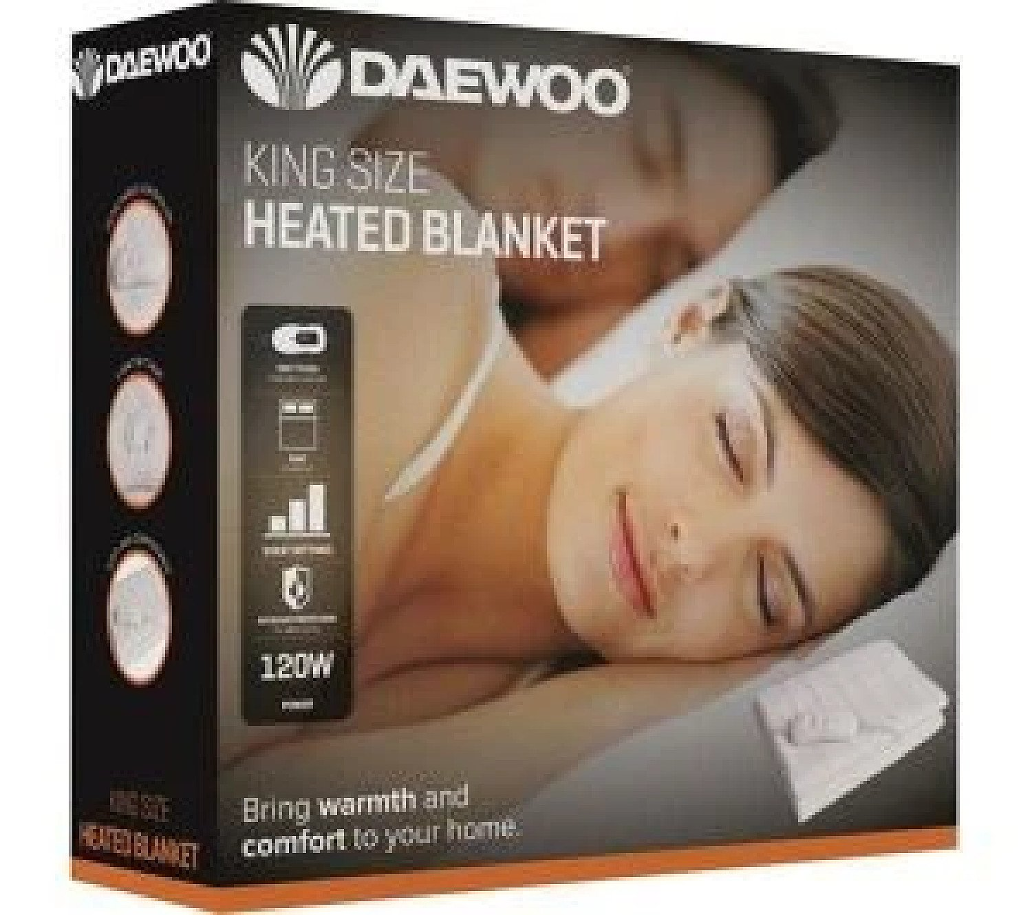 King Size Heated Blanket 3 Heat Settings & Over-Heat Protection White Free Postage