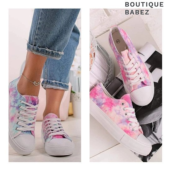Tie dye trainers -2 colours £21.99