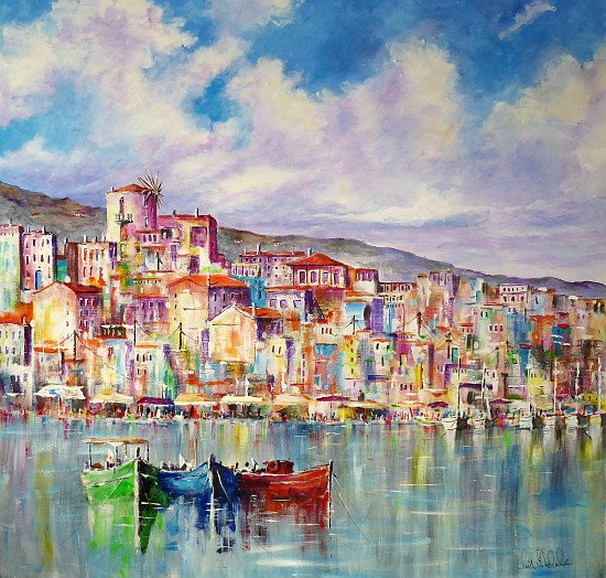 Greece   Skiathos Town Print