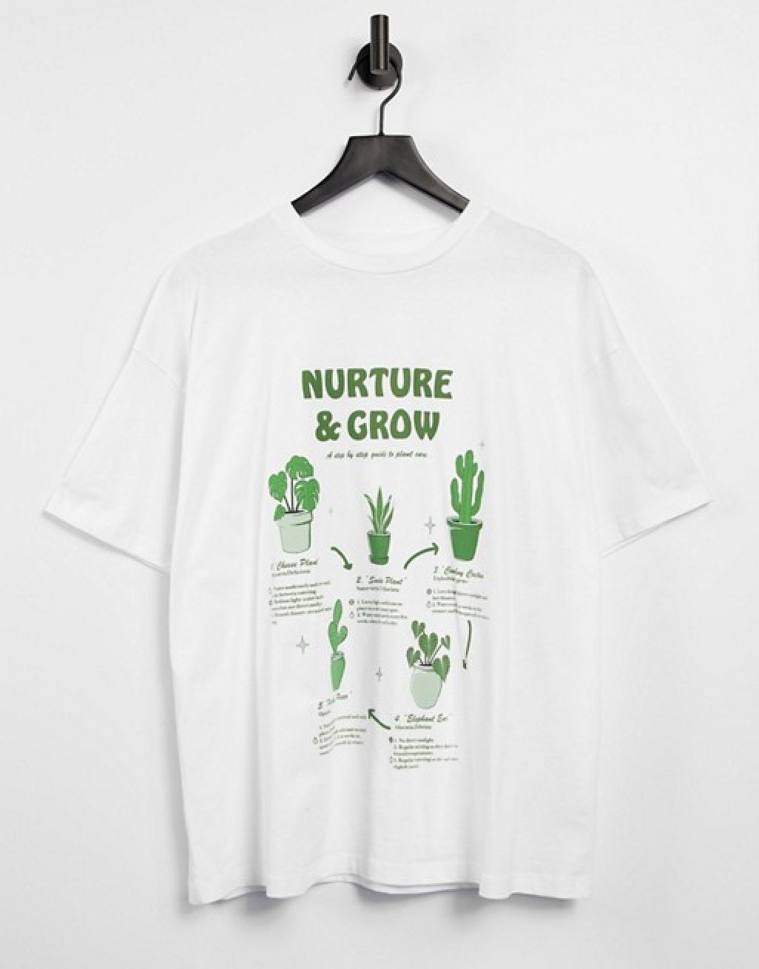 THE RETRO TREND - ASOS DESIGN oversized t-shirt with house plant print in white: £16.00!
