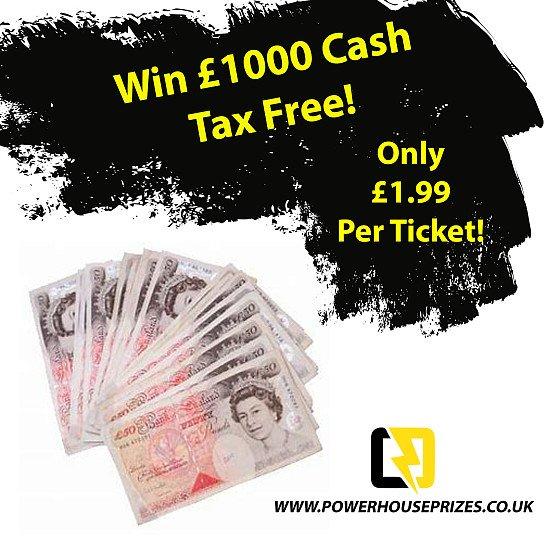 Win £1000 Cash Tax Free!!