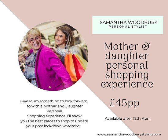 Save 25% on a Mothers Day Personal Shopping Experience