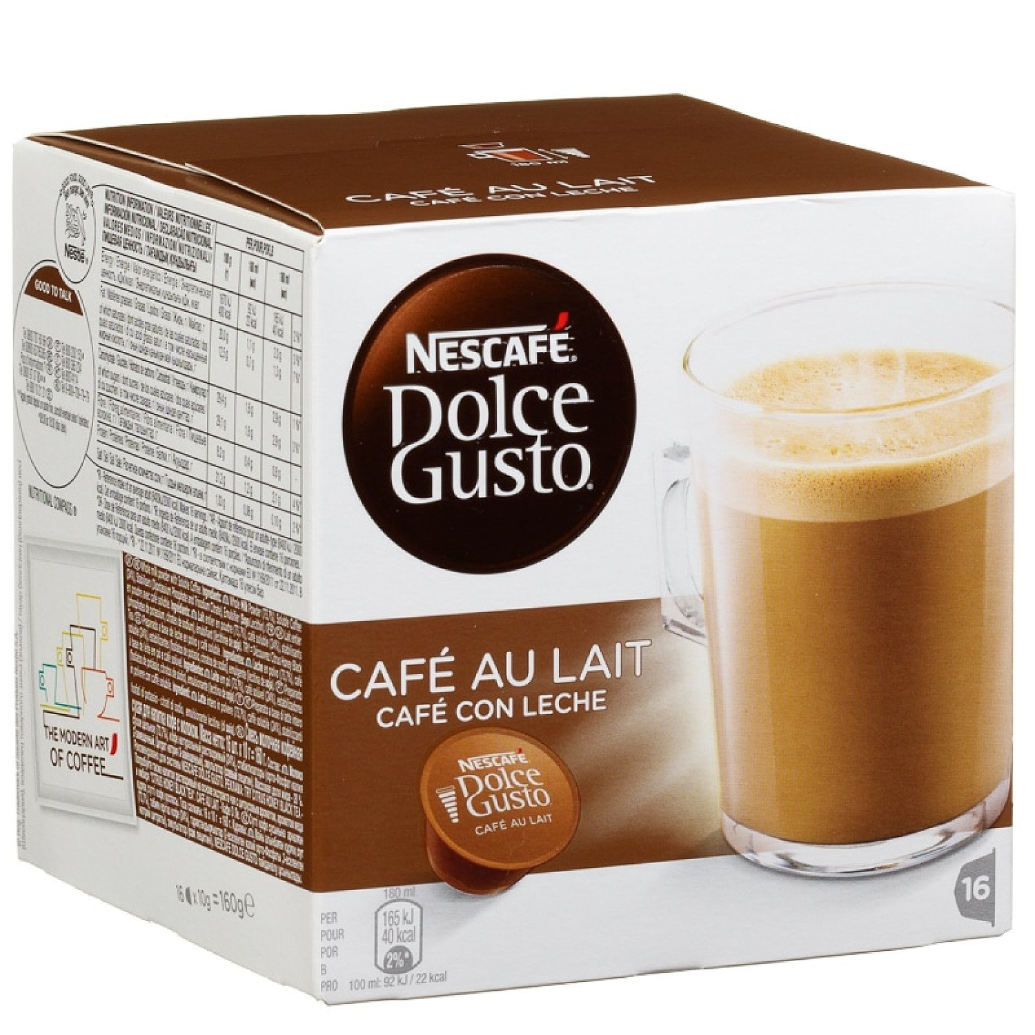 WE'RE OPEN, COME IN STORE - Nescafe Dolce Gusto, Cafe Au Lait £3.59!