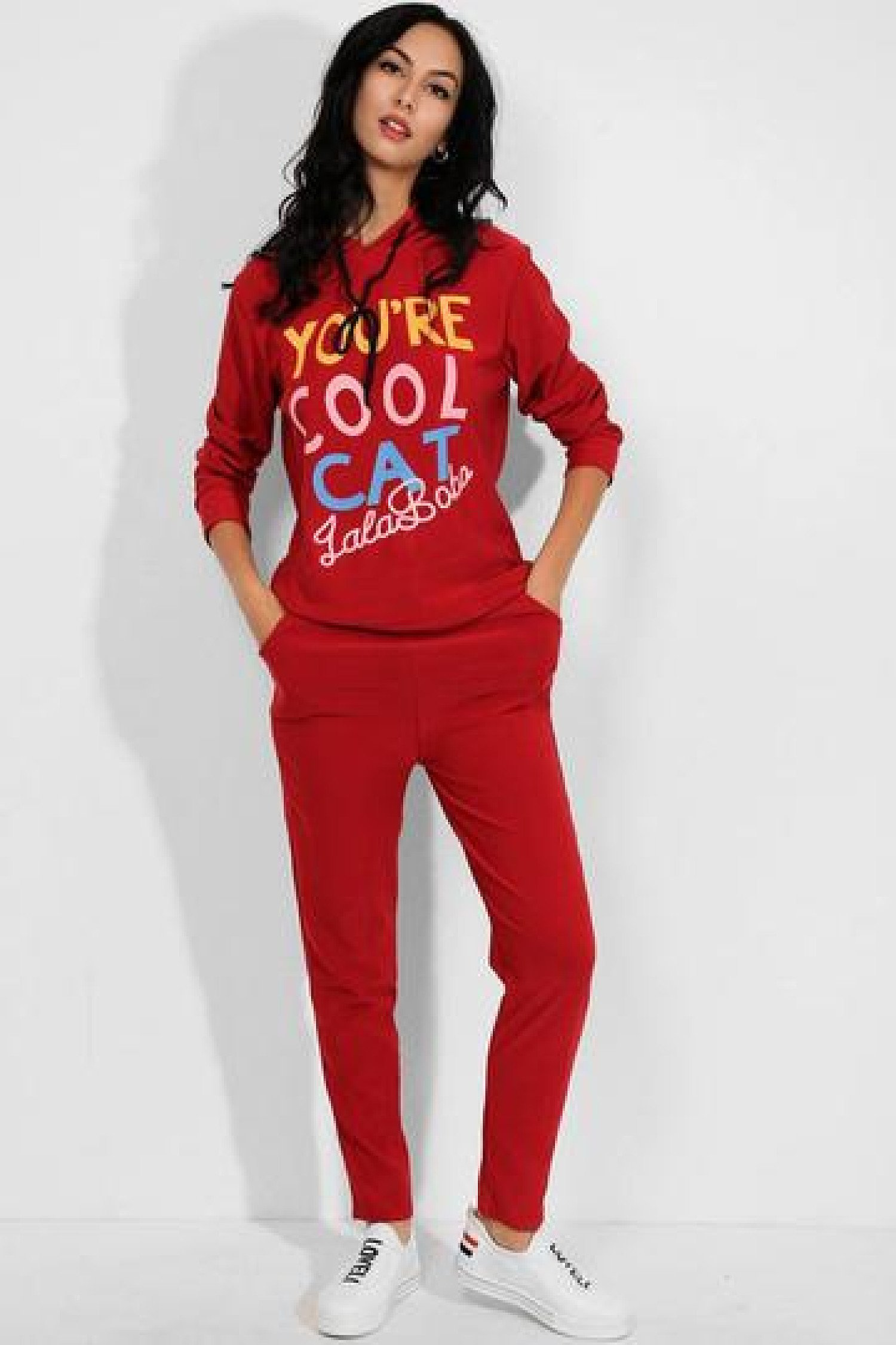 2 Piece Cool Cat Slogan Hooded Tracksuit Free Postage