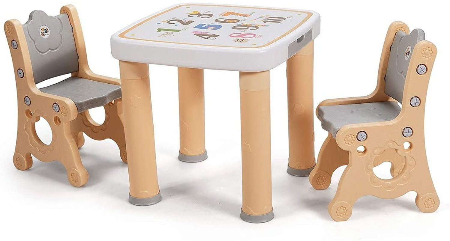 Children's Activity Table and Chair Set with Drawer Natural