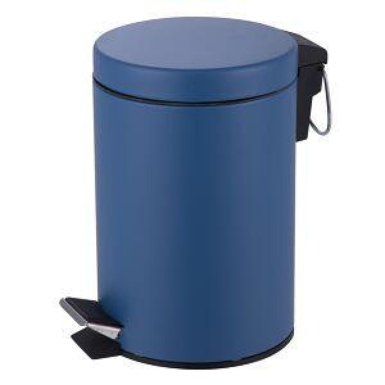 3L Pedal Bin stainless Steel Matt Finish - Blue Free Postage