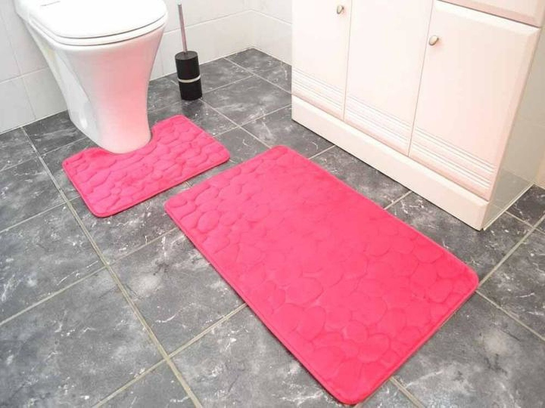 Pink Pebble Bathroom Set Free Postage